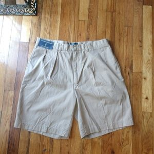 New Men's Polo by Ralph Lauren Khaki shorts